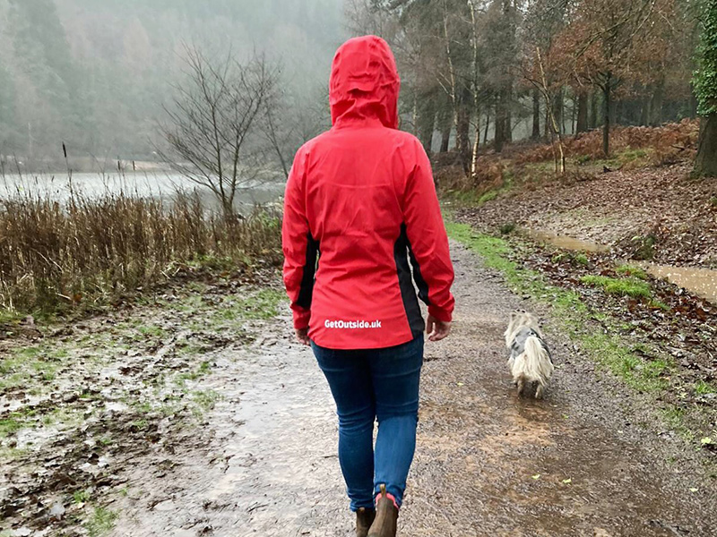 Deep breaths walking the dog