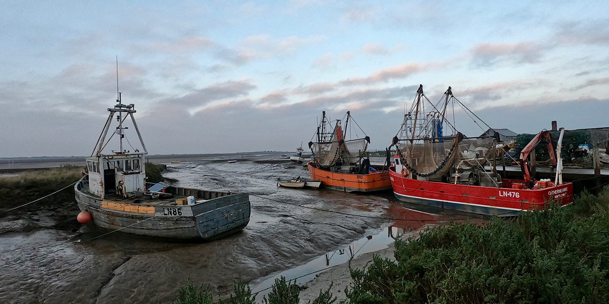 Fishing boats at Morston