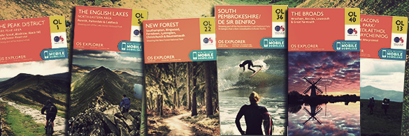 The new OS Explorer OL range now available with mobile download included.
