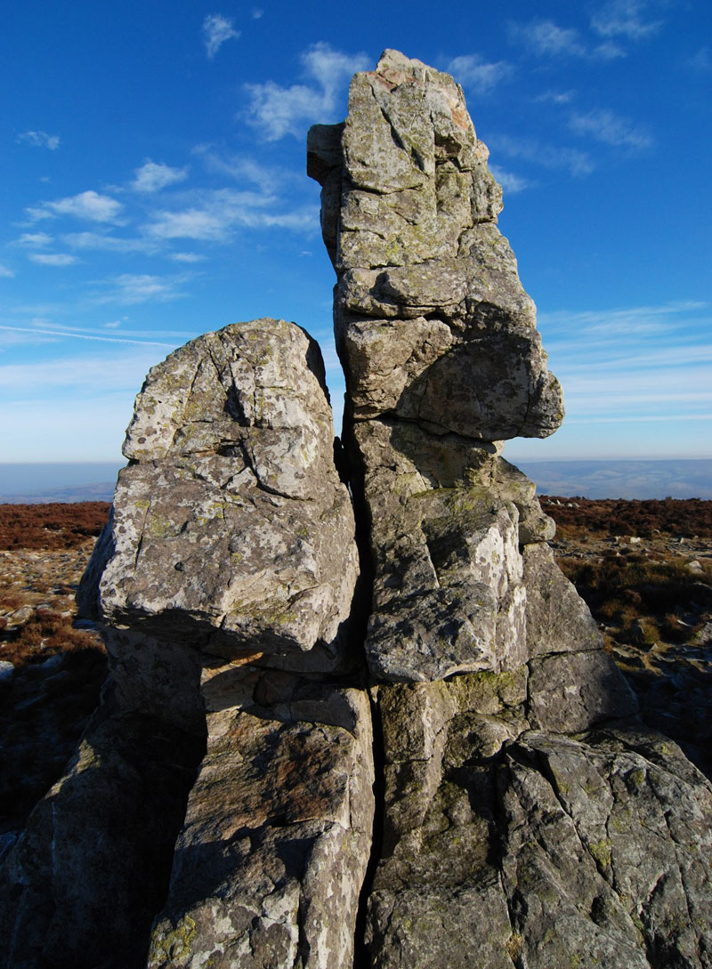 Stiperstones rocks - © Dave Croker via Geograph (Creative Commons)