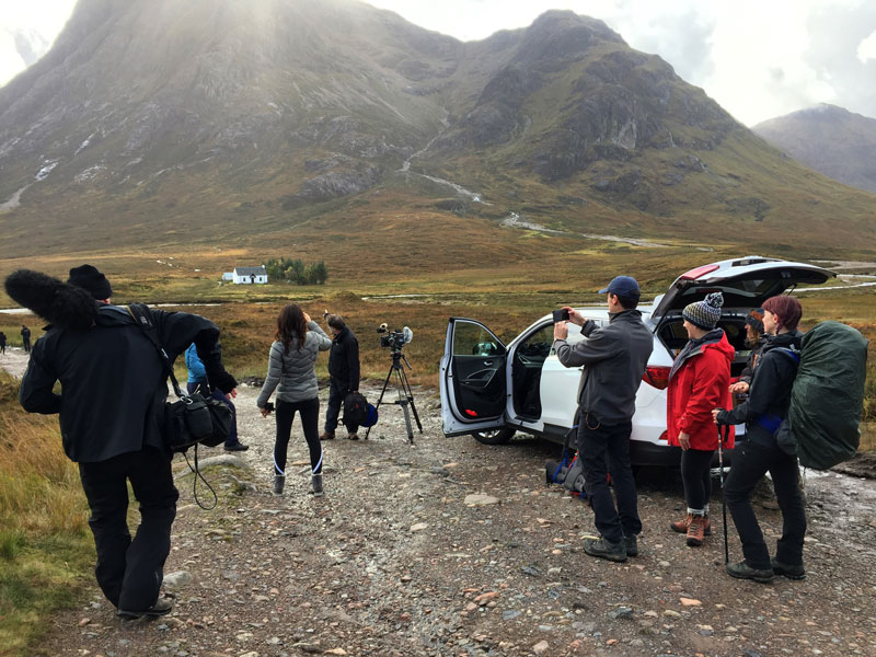 Filming in Glencoe - © Zoe Homes