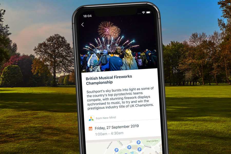 Find nearby events with the Getoutside app