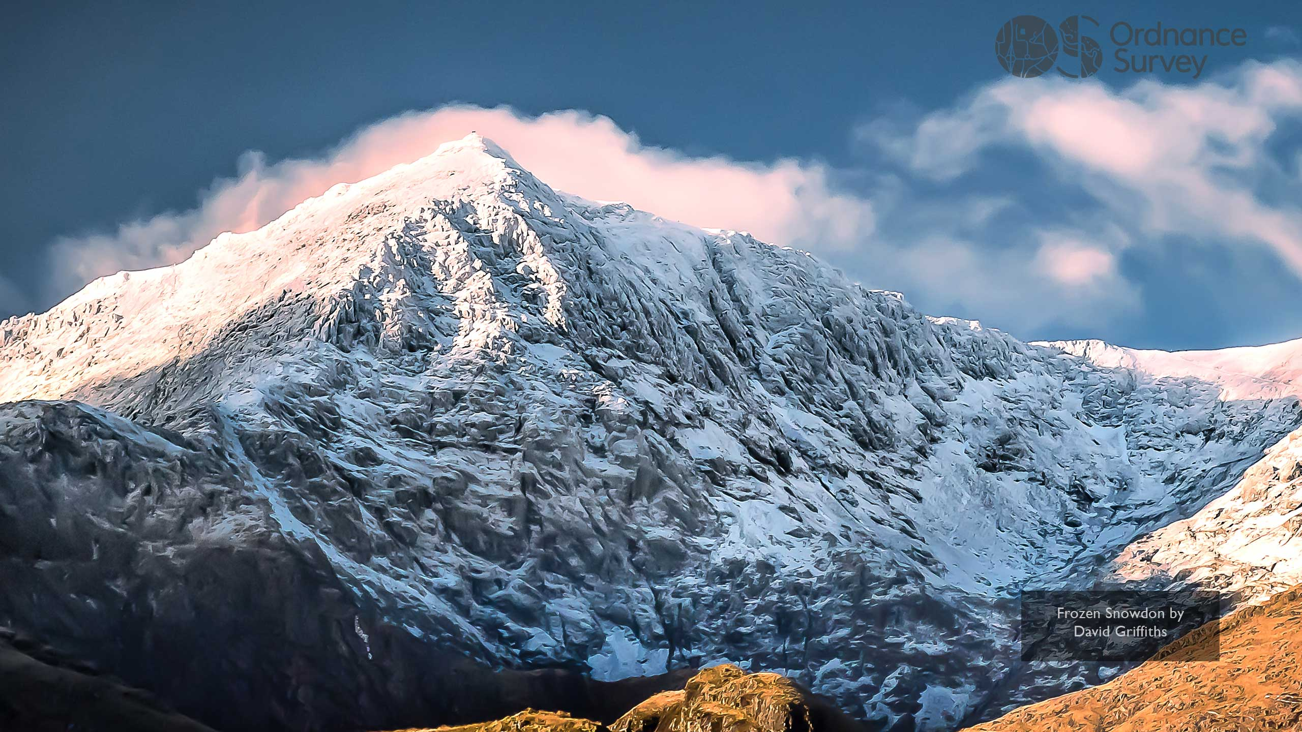 Os Wallpaper Download January 2019 Frozen Snowdon By